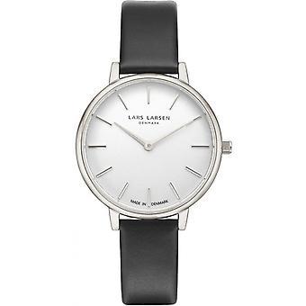 LLarsen (Lars Larsen Black Genuine Leather) 146SWBLLX Women's Watch