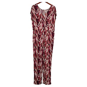 G By Giuliana Women's Jumpsuits Reg Tapered Leg Pink 736027