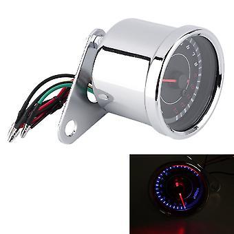 Motorcykel Baggrundsbelysning 12v omdrejningstæller Speedometer Tacho Gauge 0-13000 omdrejninger i minuttet