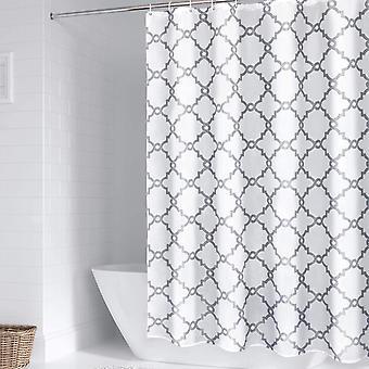 Duschvorhänge Wasserdicht Polyester Gewebe BadezimmerVorhang Waschbare Badewannenvorhänge