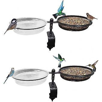 Bird Alimentatoare Deck Bird Feeder Bird Bath Deck Bowl Spa și semințe detașabile Locul ghiveci de flori pentru utilizare duală