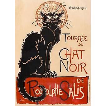 Chat Noir plakat Print af Thelophile-Alexandre Steinlen
