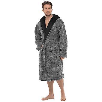 Foxbury mens s kapucí Dvoutónová župan fleece