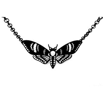 Curiology - deaths head moth - medium necklace - black - fashion jewellery