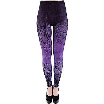 Restyle-lilla grene-leggings til kvinder-lilla