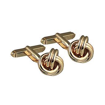 9ct Gold 13x13mm handmade swivel Woolmark Cufflinks