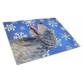Irsk Ulvehund vinter snefnug ferie glas skære bord store