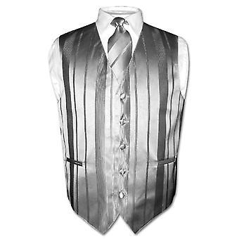 גברים ' s אפוד לבוש & עניבה ארוגים פסים עיצוב הצוואר עניבה להגדיר