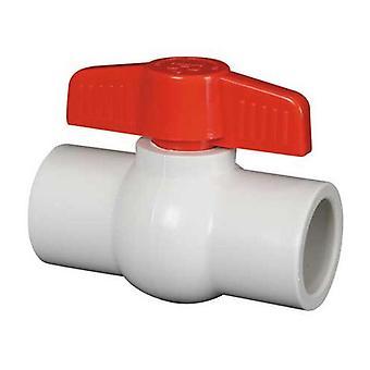 """Hayward QVC1010SSEW 1"""" QVC blanc série Compact robinet à tournant sphérique"""