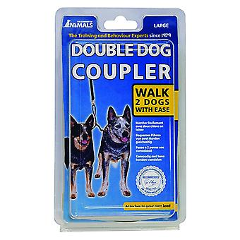Company of Animals Double Dog Coupler Lead, 2 Dogs Walk Couple
