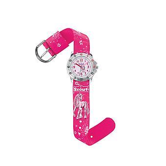 Scout kind horloge leren actie meisjes paarden meisjes horloge 280378007