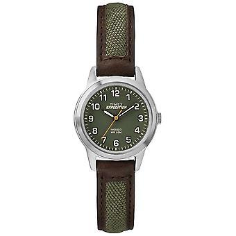 Timex Feld Mini Braue Leder Grün Zifferblatt TW4B12000 Uhr