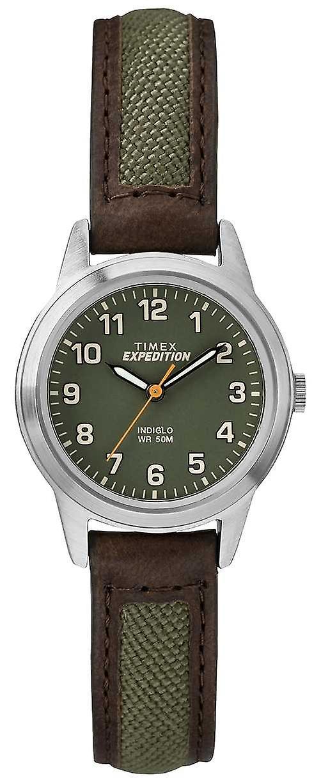 Timex Field Mini Brow Leather Green Dial TW4B12000 Watch