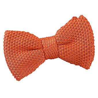 Brent oransje strikket pre knyttet sløyfe for gutter