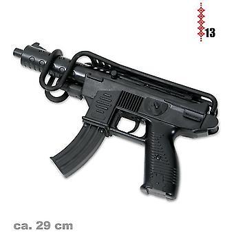 UZI 29cm med armlæn og 13 striber ammo toy gun arms krig