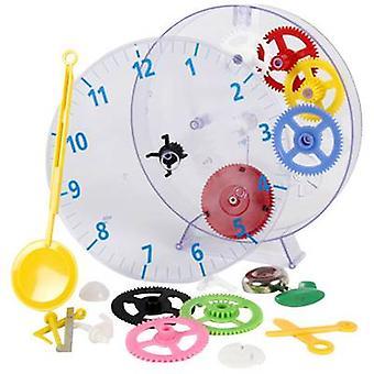 Techno Line Model kids clock Mechanical Wall clock teaching kit 20 cm x 3.5 cm Transparent