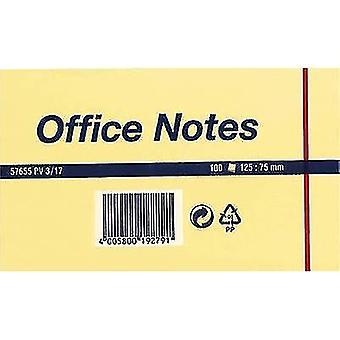tesa Sticky ملاحظة 57655-00000 125 مم × 75 مم ورقة صفراء 100