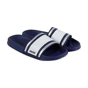 Unlisted by Kenneth Cole Form Sandal  Mens Blue Slides Sandals Shoes