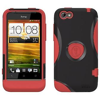 5 Pack -Trident - Protective Aegis Case for HTC ONE V - Red