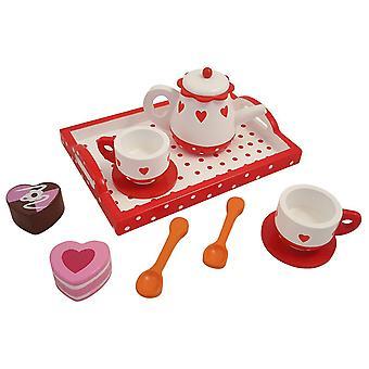 Service à thé coeurs/Dot