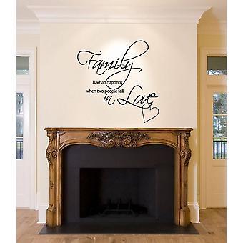 الأسرة ملصق حائط يحدث عند الناس 2 تقع في حب شارات