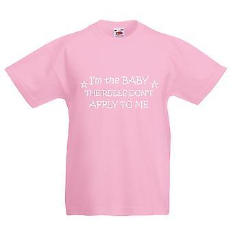 私は私にルールを適用しない赤ちゃん赤ちゃんのピンク t シャツ
