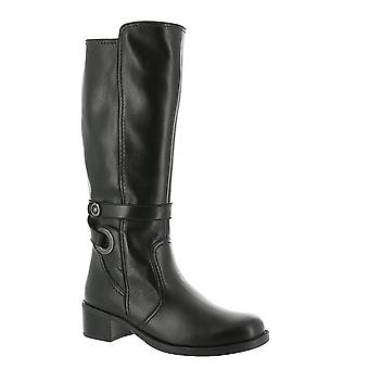 David Tate Womens Leather Almond Toe Knee High Fashion Boots