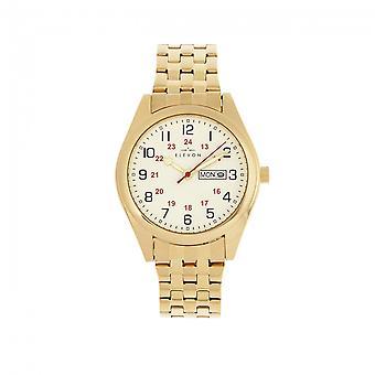 Elevon Gann Bracelet Watch w/Day/Date - Gold/White