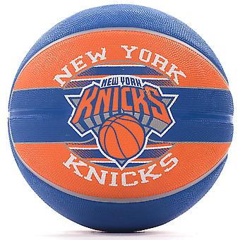 Spalding New York Knicks NBA Team Basketball blå/oransje