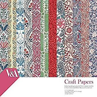 V&A Papercraft Collection 12x12 Inch Paper Pack Craft Papers (VAPAP001)