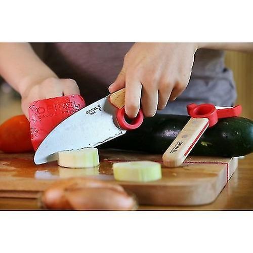 OPINEL لو بيتي الشيف إصبع حارس سكين المطبخ ومجموعة مقشرة