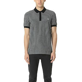 Fred Perry Men's Pinstripe Pique Short Sleeved Polo Shirt