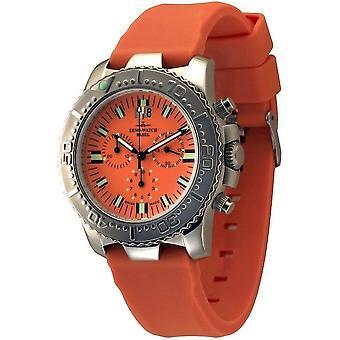 Zeno-watch mens watch of Hercules chronograph orange 3654Q-a5