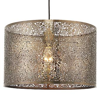 Endon Lighting Secret Garden Easy Fit 400 Cut Out Shade In Antique Brass