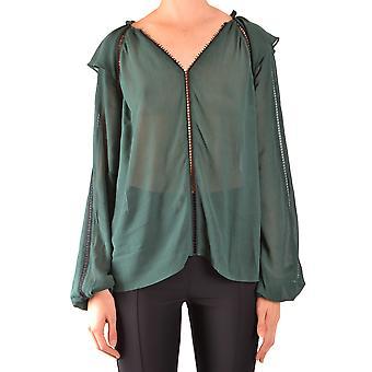 Pinko Ezbc056267 Kvinder's Grøn viscose bluse
