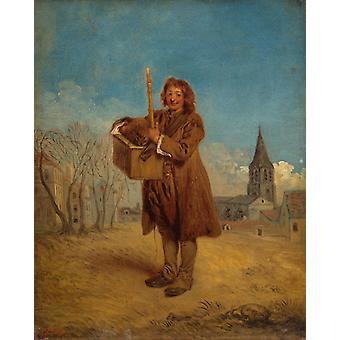 The Savoyard,Jean-Antoine Watteau,50x40cm
