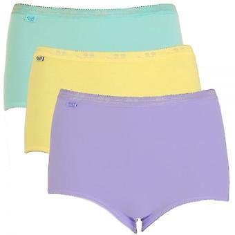 アパレル女性基本的な 3 パック マキシの簡単なターコイズ、黄色、紫、サイズ 18
