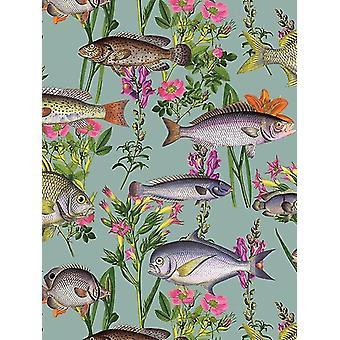 Lagunen fisk tapeter Teal Holden 12171