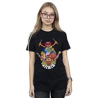 Disney Women's The Muppets Dr Teeth And The Electric Mayhem Boyfriend Fit T-Shirt