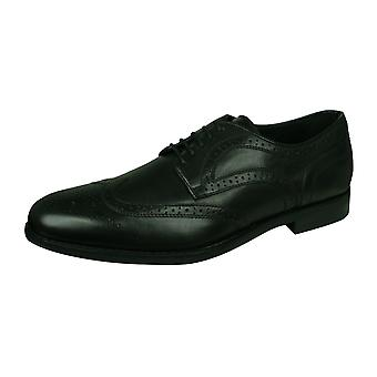 Geox U Hampstead D Mens Leather Oxfords / Shoes- Black