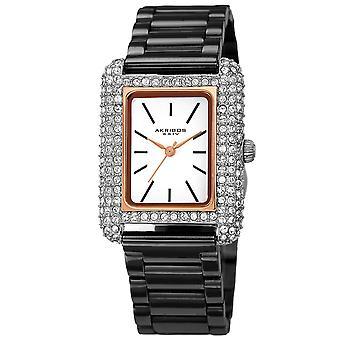 Akribos XXIV AKS191108BKR Women ' s Quartz Swarovski täckt armband klocka