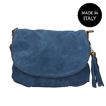 Läder axelväska tillverkad i Italien 80057