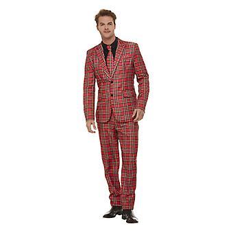 Schotse geruite pak mannen tartan pak met jas broek en binden mannen kostuum