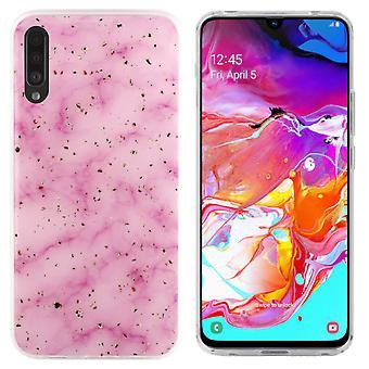 Samsung A70 Hoesje Roze - Marble