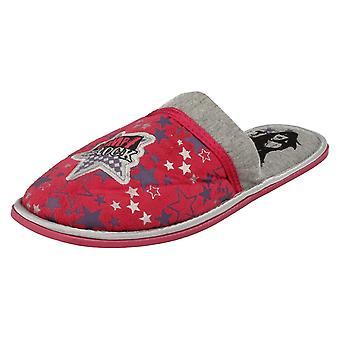 Spot de filles sur la Mule pantoufles Camp Rock Star