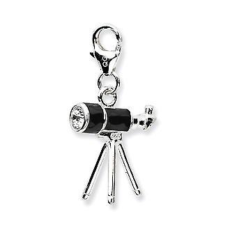 925 Ayar Gümüş Rodyum kaplama Süslü Istakoz Kapatma 3 d Emaye Teleskopw Istakoz Toka Charm Kolye Me