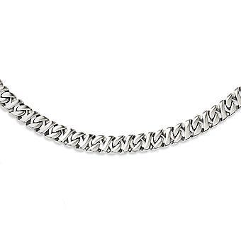 Rostfritt stål Fancy hummer stängning polerad X länk 24 tum halsband - 24 tum