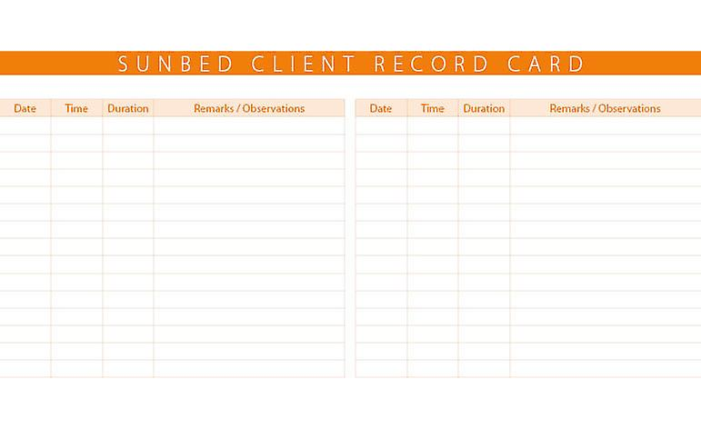Quirepale Record Cards Sunbed (100)