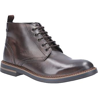 Base London Mens Raynor Burnished Leather Laced Chukka Boots
