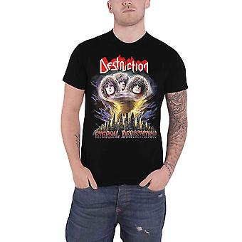 Destruction T Shirt Eternal Devastation Band Logo nouveau noir officiel pour hommes